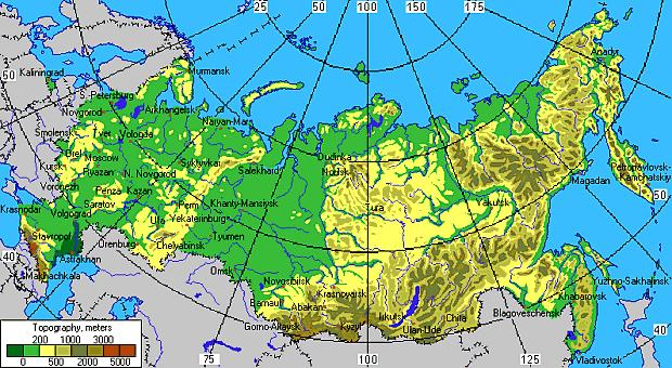 Karte Russland Asien.Asien Russland Allgemein